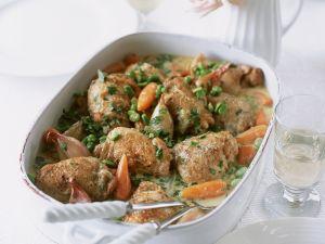 Hähnchen geschmort mit Gemüse Rezept