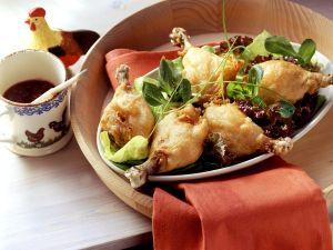 Hähnchen im Backteig mit Salat Rezept