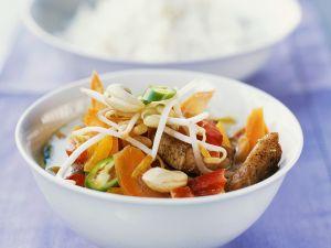 Hähnchen-Kokoscurry mit Gemüse Rezept