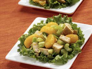 Hähnchen-Mandarinen-Salat mit Sellerie Rezept