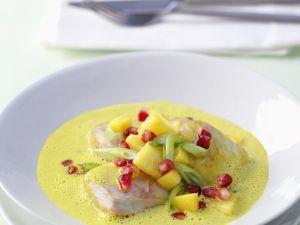 Hähnchen mit Curry und Früchten Rezept