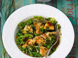 Hähnchen mit grünem Gemüse Rezept
