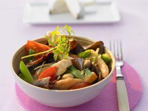 Hähnchen mit Ingwer und Cashews Rezept