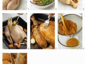 Hähnchen mit Kastanienfüllung zubereiten Rezept