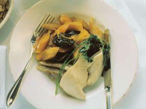 Hähnchen mit Möhren und Trockenpflaumen Rezept