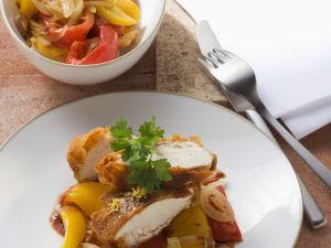 Hähnchen mit Paprikagemüse Rezept