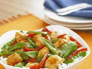 Hähnchen-Reis mit Gemüse Rezept