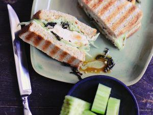Hähnchen-Sandwich vom Grill Rezept
