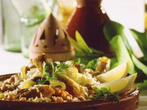 Hähnchen-Tajine mit Kichererbsen Rezept