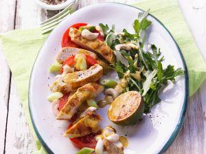 Hähnchen-Tomatensalat mit Curry-Dressing Rezept