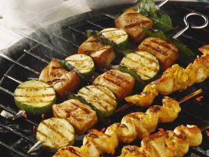 Hähnchen- und Fischspieße Rezept