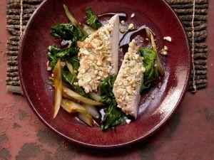 Hähnchenbrust mit Cashewkruste Rezept