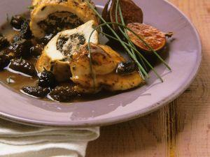 Hähnchenbrust mit Brätfüllung und Morcheln Rezept