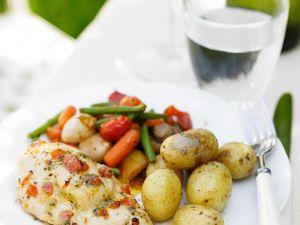 Hähnchenbrust mit Gemüse Rezept
