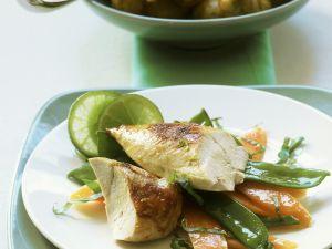 Hähnchenbrust mit Kartoffeln und Limettenbutter Rezept