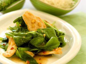 Hähnchenbrust mit Spinat Rezept