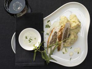 Hähnchenbrust mit Pilzfüllung Rezept
