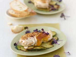 Hähnchenbrustfilet mit Cheddar, Zucchini und Minze Rezept