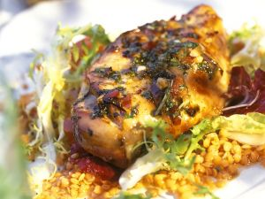 Hähnchenbrustfilet mit Linsensalat Rezept