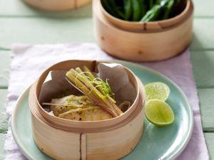 Hähnchenfilet mit Wasabi und Kefen Rezept