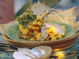 Hähnchensalat mit Ananas auf kreolische Art Rezept