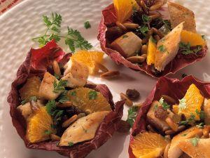 Hähnchensalat mit Orangen Rezept