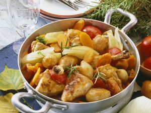 Hähnchentopf auf mediterrane Art Rezept