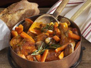 Hähnchentopf mit Karotten und Schalotten Rezept