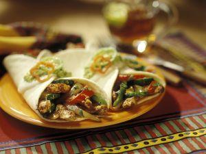 Hähnchenwraps mit Gemüse Rezept