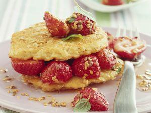 Hafer-Pfannkuchen mit Erdbeeren Rezept