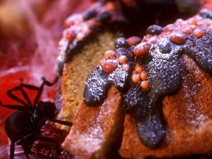Süßer Kürbiskuchen zu Halloween Rezept