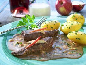 Hasenrücken mit Kartoffeln Rezept