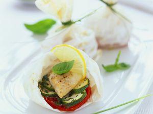 Heilbutt mit Gemüse en papillote Rezept