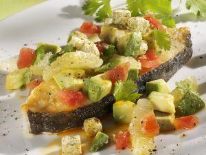 Heilbuttfilet mit Tomaten-Avocado-Salsa Rezept