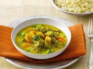 Herbstliches Gemüsecurry mit Rind Rezept