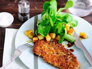 Herbstliches Schnitzel mit Kartoffel-Feldsalat Rezept