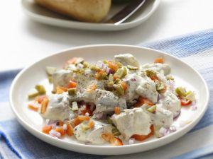 Herings-Paprika-Salat mit Mayonnaise Rezept