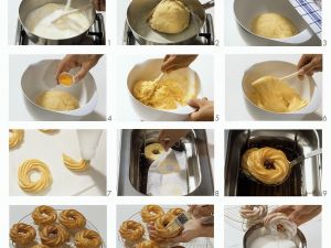 Herstellng eines Spritzkuchens Rezept