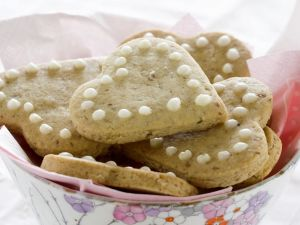 Herz-Kekse mit Pekannüssen Rezept