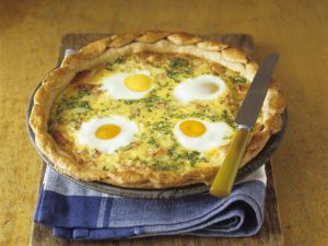 Herzhafter Eier-Speck-Kuchen Rezept