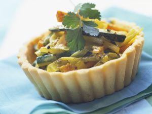 Herzhaftes Tortelett mit Zucchini, Porree und Möhren Rezept
