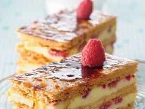 Himbeer-Vanille-Mille-feuille Rezept