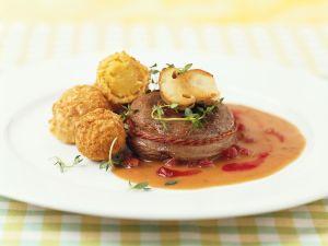 Hirsch mit Kartoffelbällchen Rezept