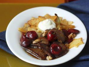 Hirschrücken mit Kirschsauce Rezept