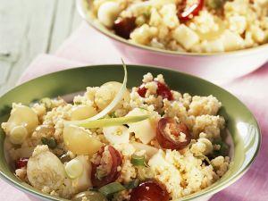 Hirsesalat mit Gruyère und Trauben Rezept
