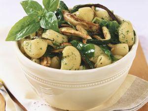 Hörnchen-Nudeln mit Zucchini Rezept