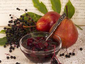 Holunderbeeren-Birnen-Kompott Rezept