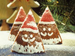Honigkuchen mit Nikolausgesicht Rezept