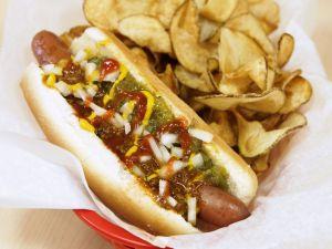 Hot Dog mit Chips Rezept