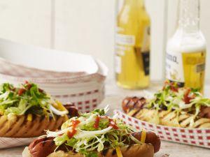 Hot Dogs vom Grill Rezept